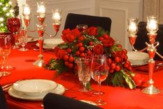 Lovely Elegant Christmas Table Settings Ideas