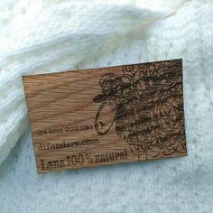Tarjeta de visita madera oveja