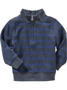 Striped Half-Zip Pullover for Baby