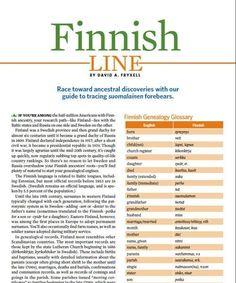 Finnish Genealogy Guide