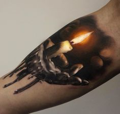 Candle Tattoo by Gary Mossman.