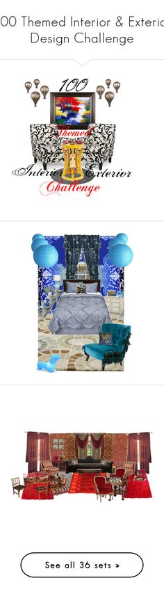 """""""100 Themed Interior & Exterior Design Challenge"""" by dreams-of-a-masked-nightingale ❤ liked on Polyvore featuring interior, interiors, interior design, home, home decor, interior decorating, Coldwater Creek, Hourglass Cosmetics, Timorous Beasties and Crate and Barrel"""