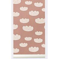 Ferm Living Behang Cloud wolken roze papier 10.05x0.53cm
