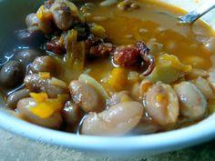 Croatian bean stew with smoked pork ribs recipe - Foodista.com