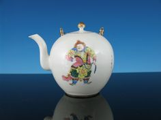 19th C. Chinese Famille Rose Warrior Teapot, http://www.bidamount.com/