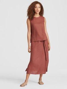 Organic Handkerchief Linen Wrap Skirt-S8OLA-S4022