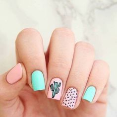 Are you looking for summer nails colors designs that are excellent for this summer? See our collection full of cute summer nails colors ideas and get inspired! Blue Nail, Pink Nails, Gel Nails, Nail Polish, Nail Nail, Coffin Nails, Pastel Nails, Nail Spa, White Nails