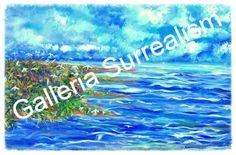 """Acrylic Canvas """"Windy Seas"""" 24"""" x 36"""" Acrylic Canvas $9,500.00"""