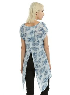 Amazon.com: Doctor Who Floral TARDIS Girls Chiffon Top: Clothing