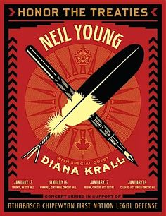Neil Young and Diana Krall, Honor the Treaties  ~Repinned Via Carl Popham