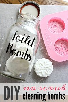 Ditch the store bought cleaners full of chemicals and clean your bathroom with these DIY toilet cleaner tabs plus 8 other ways you can go waste free in your bathroom. ad