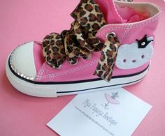 Hello kitty applied to converse chuck taylors- awesome birthday shoes!