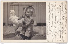 RP: A girl & her friend [Rooster] , TROY , New York , PU-1906 - Delcampe.com