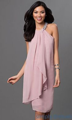 Shop mother-of-the-bride dresses and knee-length party dresses at Simply Dresses. Sleeveless beaded short evening wear and wedding guest dresses. #fatherofthebrideoutfit #father #of #the #bride #outfit #father #of #the #bride #outfit #formal