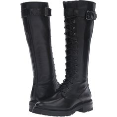Designer Clothes, Shoes & Bags for Women Lace Combat Boots, Tall Lace Up Boots, Low Heel Boots, Frye Boots, Pull On Boots, Black Boots, High Boots, Lace Shoes, Knee High Platform Boots