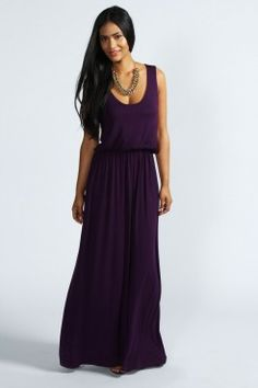 Serena Bagged Over Racer Back Maxi Dress - La boutique de vacances - Collections