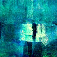 Turquoise Light Abstract by Nancy Merkle
