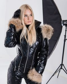 Puffer Jackets, Winter Jackets, Down Suit, Winter Suit, Snow Fashion, Canada Goose Jackets, Skiing, Cool Style, Overalls