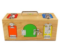 toddler love lock boxes #Montessori #lockbox #Montessoritoddler