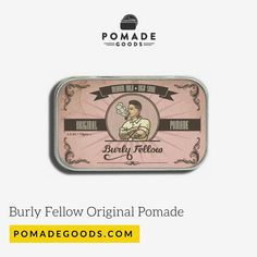 Burly Fellow Original Pomade is a medium hold, high shine oil based pomade made for those classic cuts from contours, to side parts, pomps and slick backs. Oil Based Pomade, Mens Pomade, The Originals