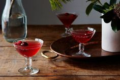 Sparkling Cranberry Gin Punch recipe on Food52