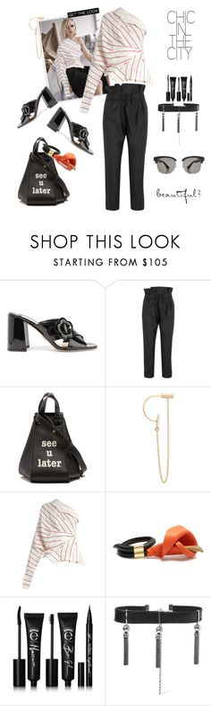"""SPRING TRENDS"" by statuslusso ❤ liked on Polyvore featuring Prada, Vivienne Westwood Anglomania, Loewe, Delfina Delettrez, A.W.A.K.E., Eyeko, Sophie Buhai and Gucci"