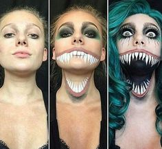 65 Best Makeup Looks Halloween Images Make Up Looks Makeup - Halloween-face-makeup
