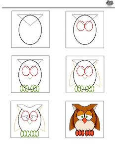 How to draw an owl tutorial