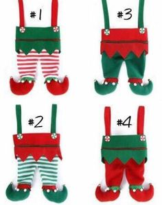 Elf Stocking - Elf pants - Embroidered Christmas Stocking - Stockings - Elf Stockings - Elf Pant Stockings - name christmas Christmas Ornaments To Make, Christmas Sewing, Christmas Tag, Christmas Crafts, Elf Decorations, Outdoor Christmas Decorations, Embroidered Christmas Stockings, Kids Stockings, Stocking Pattern