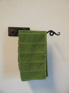 Hand Forged Iron Kitchen or Bath room Towel by ArtisansoftheAnvil