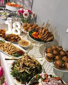 Events by farrah catering on birthday buffet events catering fingerfood foodstyling sydneyfood allocassions birthday eventsbyfarrah Party Food 18th Birthday, Birthday Party Catering, Birthday Bar, Birthday Month, Birthday Ideas, Party Food Buffet, Catering Buffet, Catering Events, Catering Ideas