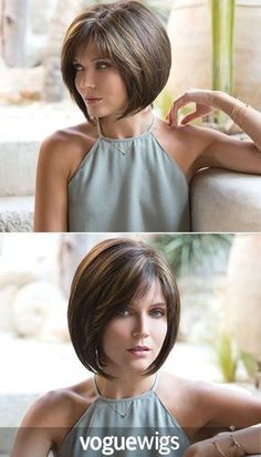Take this photo to your stylist for a chic chin-length modern bob that is perfec. - - Take this photo to your stylist for a chic chin-length modern bob that is perfec… - Hairstyles With Bangs, Cool Hairstyles, Medium Hair Styles, Short Hair Styles, Chin Length Hair, Monofilament Wigs, Short Bob Haircuts, Haircut Bob, Textured Hair