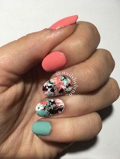 Paint Splatter Nails