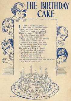 """The Birthday Cake- you could change the age...""""It had 57 candles on it! Because I'm 57, you see..."""""""