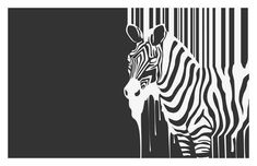 Abstract Animal Art Black And White