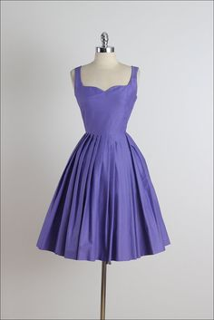 """Lavender Thymes"" . Vintage 1950s Dress . by millstreetvintage"