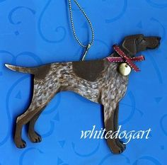 German Short-Haired Pointer Christmas Ornament.