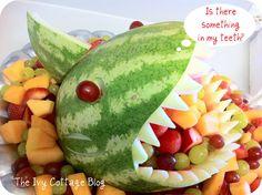 "Fruit anyone??  (Julian's soccer team name ""The Sharks""..yep ,we'll be making this !!"
