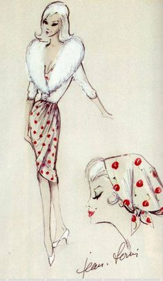Jean Louis costume design sketch for Marilyn Monroe in 'The Misfits', 1961 http://sulia.com/my_thoughts/3bbf2350-a882-45f1-b49e-4458b0b7406c/?source=pin&action=share&btn=small&form_factor=desktop&pinner=125435173