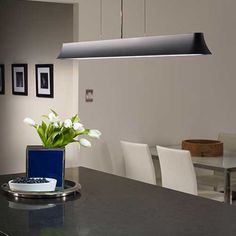 Zhane Linear Suspension by Tech Lighting. Kitchen Pendant Lighting, Kitchen Pendants, Dining Room Lighting, Table Lighting, Lighting Ideas, Fluorescent Lamp, Lighting Showroom, Commercial Lighting, Island Lighting