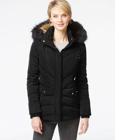 Jones New York Faux-Fur Down Parka Jacket