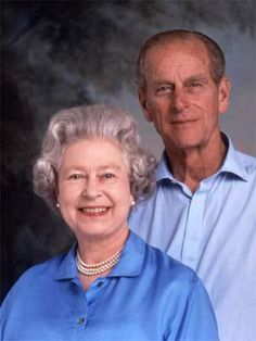 Queen Elizabeth II and Prince Phillip. I love that this is so ordinary…like any ole grandparents.  wait…is this real or photoshopped?