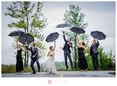 Rainy day - Bridal party Photographe de mariage – RiverRock Inn – Rockland – Roxanne and Damien