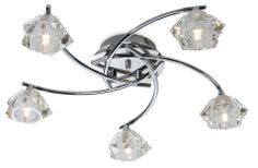 The Clara 5 Light Flush Ceiling Light by Firstlight Lighting is supplied by Luxury Lighting. The Firstlight Clara Ceiling Light is in a chrome finish with chunky clear glass shades