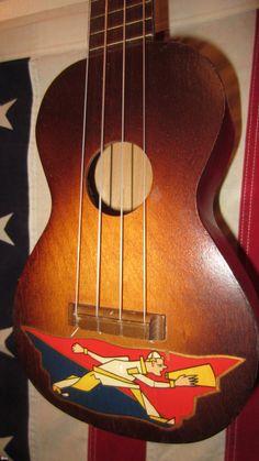 1950 Harmony Kay Vintage Ukulele Natural with Graphic > Ukulele ...