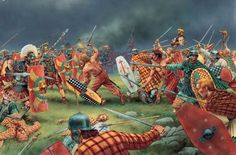 The final act of defiance for the Iceni against the Roman army. Here the Celtic warriors charge into the face of concentrated pilum and then determined Roman discipline.