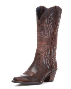 Someday I'm gonna get me a pair of cowboy boots... Ariat Women's Heritage Western X Toe Boot - Sassy Brown