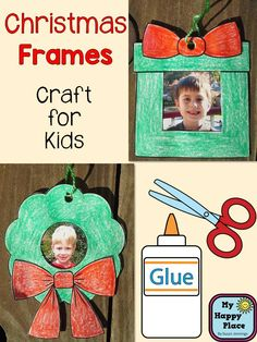 Christmas Frames Craft Ornaments - cute gift for students to make for their parents and grandparents $