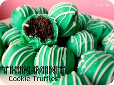 Thin Mint Cookie Truffles for St. Patty's Day! @FoodBlogs
