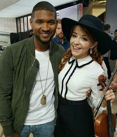 I heard @usher is a really big fan of the amazing @lindseystirling.  Not a surprise, cause everyone is.  #lindseystirling #lindsey #violin #violinist #red #orange #cute #pretty #purdy #perfect #beautiful #beauty #sweet #youtube #youtuber #redhead #love #ksll #lindsey #positivity #edm #music #dance #dancer #dancing #lindseylove #braveenough #tour #usher #❤ #somethingwild